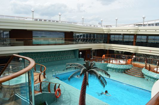 Swimming on board a cruise possible any time
