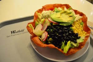 fresh salad in a Westfield restaurant