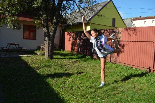 morning yoga in Slovenska Ves Slovakia