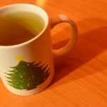 sea buckthorn tea in my Christmas mug